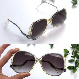 Vintage 70's Oversized Swan Neck Sunglasses